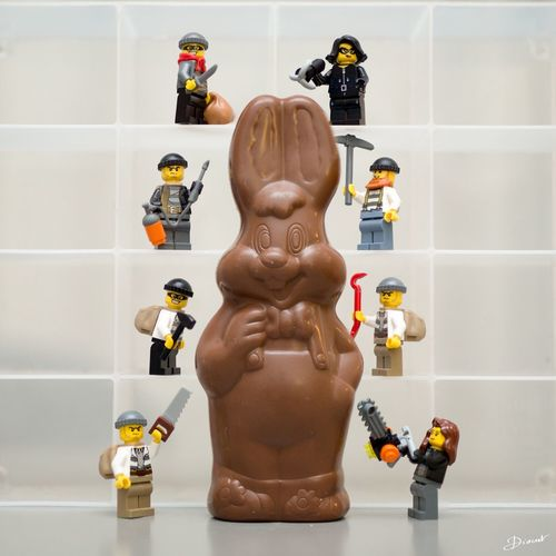 Easter Happy Easter Rabbit Paques Paques LEGO Kinder Chocolate Monday Goûter