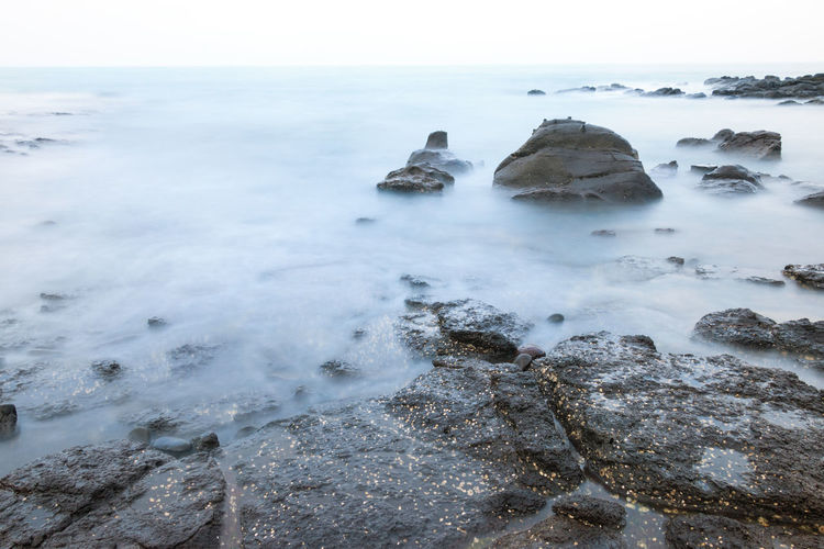 Rock Formations On Coast