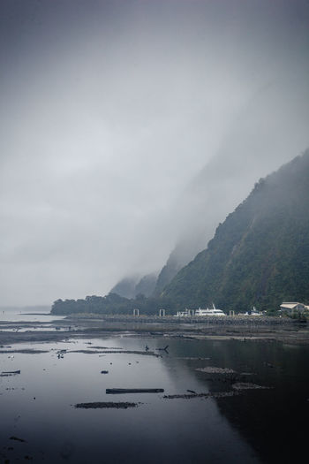 Milford Sound Bay Beauty In Nature Cloud - Sky Day Fog Lake Mountain Mountain Range Nature No People Non-urban Scene Outdoors Reflection Scenics - Nature Sky Tranquil Scene Tranquility Water Waterfront