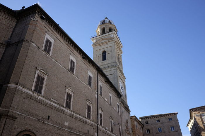 civic tower of macerata Square Ancient Architecture Architecture Building Exterior Built Structure Civic Clock Clock Tower Day Detail Medieval Architecture No People Outdoors Tower Travel Destinations