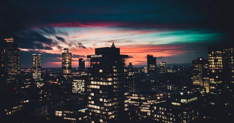 Architecture Sunset Sky Skyline Skyscraper Learn & Shoot: After Dark The Architect - 2017 EyeEm Awards