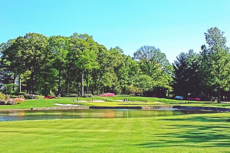 Golf Golf Course Hole 4 Par 3 Pgatour I Love Golf New Jersey Beautiful Landscape Manicured Lawn