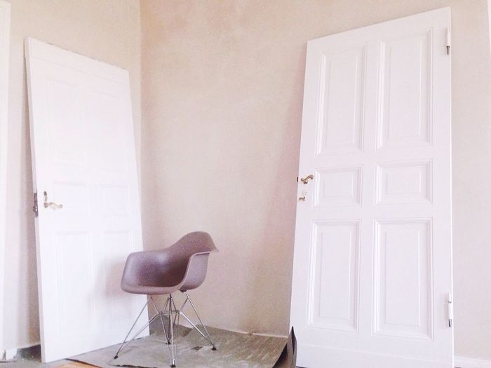 White chair at home