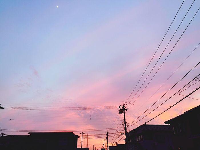 今日の空、きれいやったなー 夕焼け 空 Sky 日没 Blue Pink