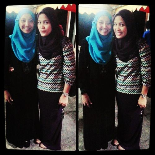 w/ my gedik. Sweet 22 ♡ always love you my pretty girl. Stay healthy and may Allah bless you @izzatiarshad Birthdayshout 090913