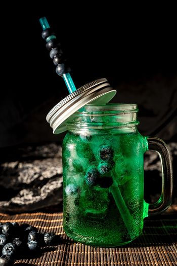 Dark mood food Photography Drink Green Color Container Refreshment Food And Drink Table Still Life Close-up Bottle No People Indoors  Glass Glass - Material Drinking Glass Black Background