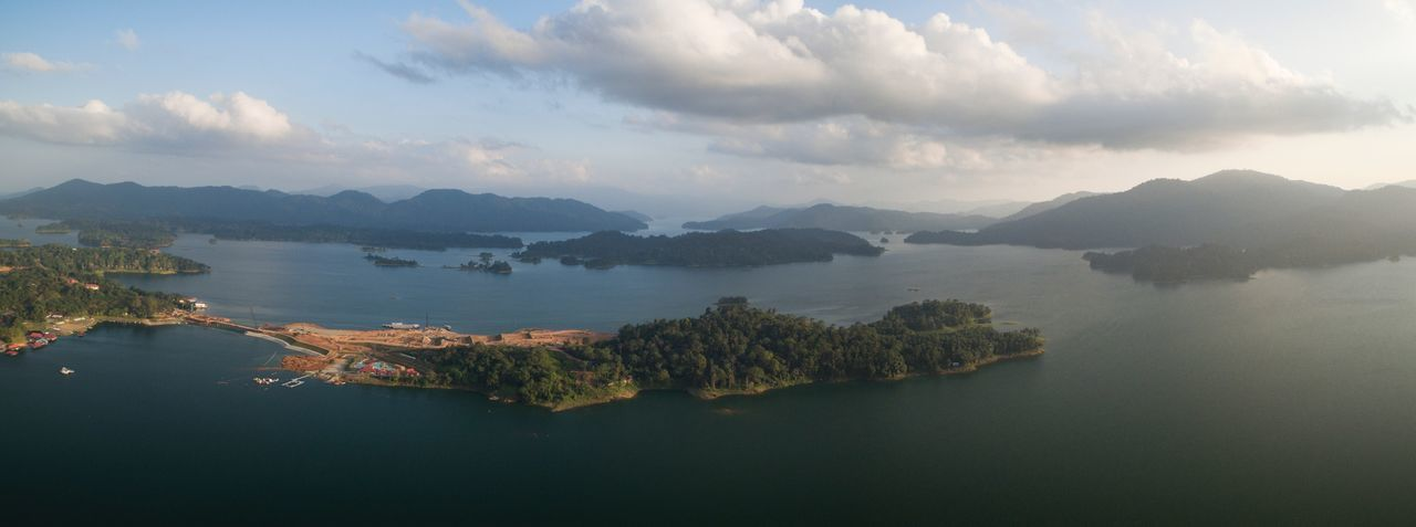 Panorama view of kenyir lakeside Kenyir Lake Dam Lake Aerial Panorama Aerial Landscape Aerial View Aerial Shot Aerial Photography Mountain Water Scenics Nature Beauty In Nature Tranquility Tranquil Scene Mountain Range Sky No People Waterfront Lake Outdoors Day