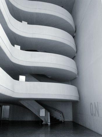 Spain🇪🇸 València Calatrava Calatravaarchitecture Architecture Staircase Concrete Blackandwhite No People Calm Cold Rythm The Graphic City