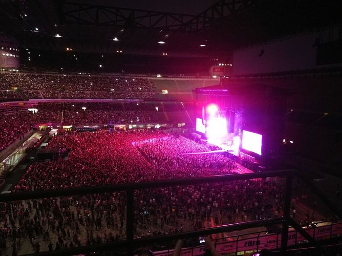 Arts Culture And Entertainment Music Stage Light Depeche Mode Live San Siro Stadium Milano Italy