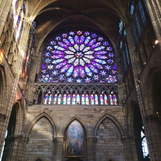 Church Saint-Denis Rose Window
