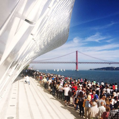 Maat Lifestyles Day Clear Sky Outdoors Eyem Lisboa People People Together