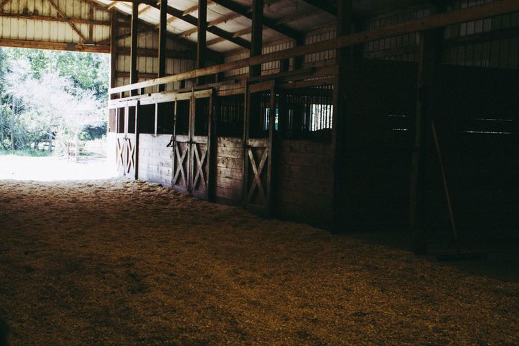 Indoors  No People Architecture Day Stables Horse Riding Farm Stable Life Rural