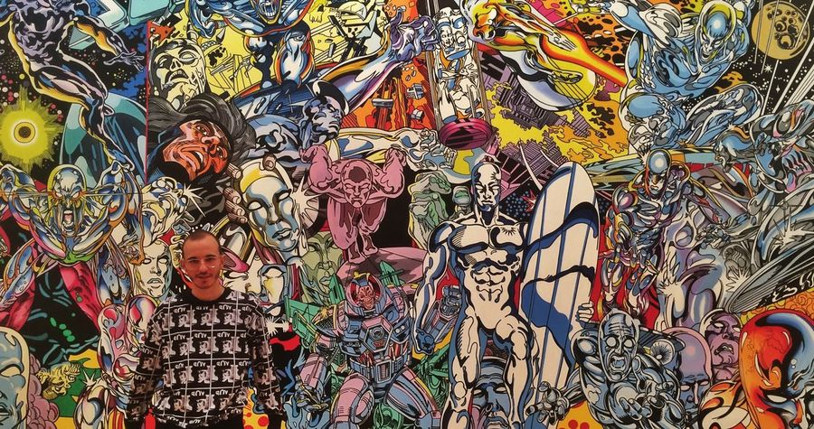 ERRO Art Museum Contemporary Art Marvel Comics Silver Surfer Gay Boylondon