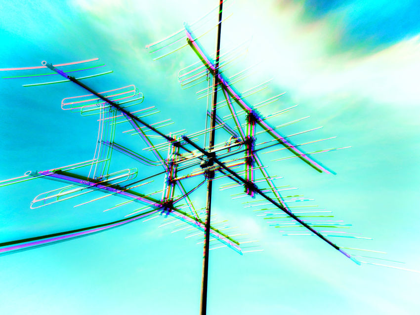 Antenna Badlands Cable Low Angle View Outdoors Sky Worland Worland WY Wyoming