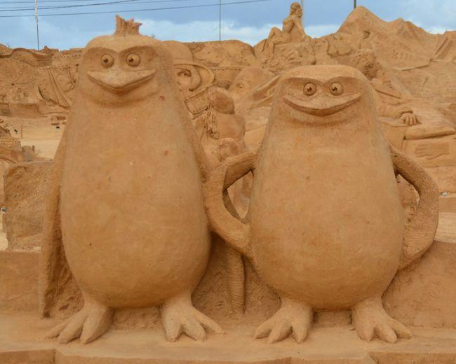 Sand Fantasy No People Imagination Art Sand Sculpture Sand Sculptures Sculpture Sand Sculpture Park Madagascar Penguins