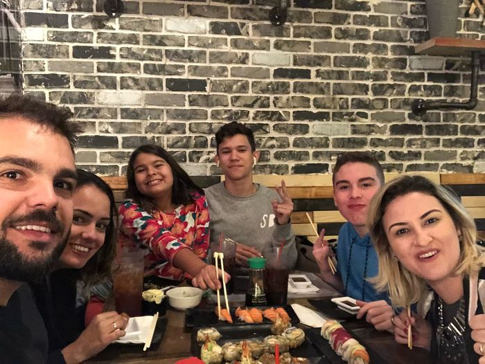 Family Matters Family Time Family❤ Family Young Adult Food And Drink Happiness Group Of People Smiling Young Men Adult Event Lifestyles Real People Friendship Portrait Party - Social Event Food Table Drink Cheerful Brick Leisure Activity