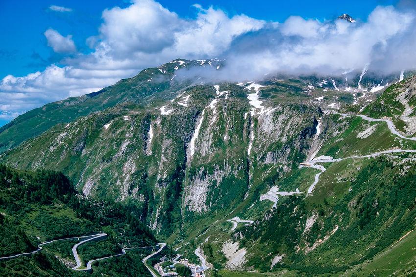 Alpen Blue Furka Furkapass Mountain Mountain View Schweiz Swiss Swiss Alps Switzerland