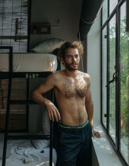Portrait Of A Friend Young Men Indoors  Minimalism Portrait