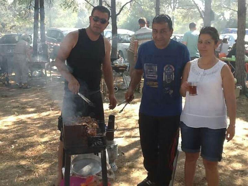Geleneksel mangal partisi didim orman kampi