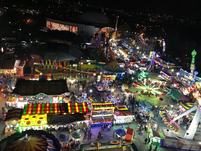 Tlaxcala fair Tlaxcala Feria Night Celebration Crowd High Angle View Illuminated Cultures
