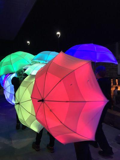 Multi Colored Umbrella Cityofculture  Hull City Of Culture 2017 Hull2017 Festival Illumination