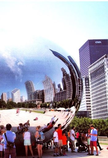 Shape First Eyeem Photo Millenium Park Thebeanballchicago Summer Urban Landscape