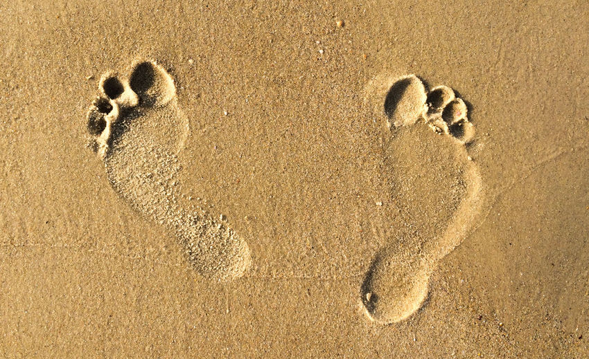 Arid Climate Backgrounds Close-up Detail Directly Above Footprints Footprints In The Sand Ground High Angle View Natural Pattern No People Relaxation Relaxing Sand Sea Textured