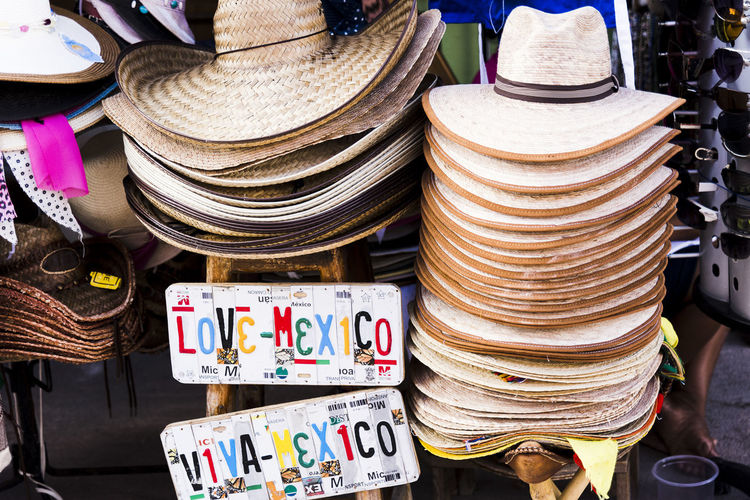 Large Group Of Objects For Sale Retail  Market Market Stall Hat Shopping Collection Clothing Street Market Small Business No People