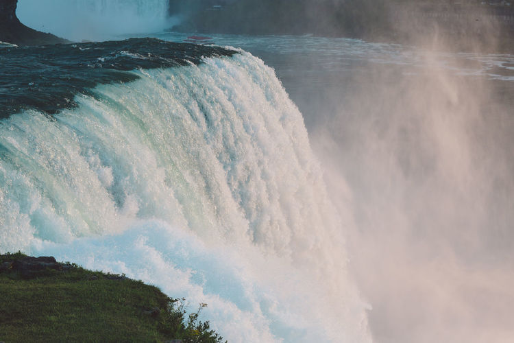 Idyllic View Of Waterfall
