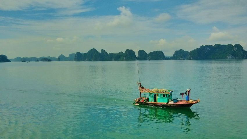 Water Travel Reflection Mountain Lake Transportation Nature Outdoors Scenics One Person Beauty In Nature Sky Nautical Vessel Day Fisherman Fishing Boat Colorful Boat Illuminated EyeEmNewHere