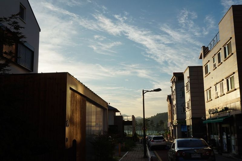 Low Angle View Home Town No People Outdoors Street Morning Sun Skyscraper Building Exterior Modern House