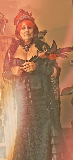 Masquerade Red Queen Not Your Hood Have A Seat Creepy Shadeyville Period Costume Portrait Females Witch
