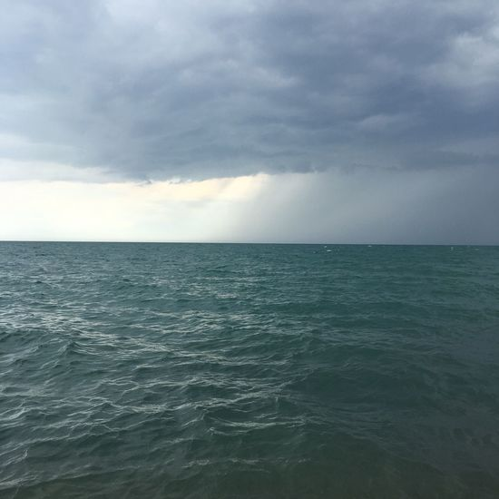 Sea Horizon Over Water Beauty In Nature Nature Sky Water Tranquility Cloud - Sky Day No People Russia Crimea,Russia Beach Calm August Storm Gray Sky Gray Color 바다 #하늘 #수평선 #러시아 #크림 #자연 #뇌우 #돌 #비