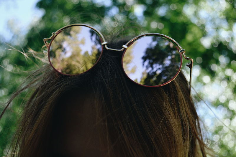 Close-up of woman with sunglasses