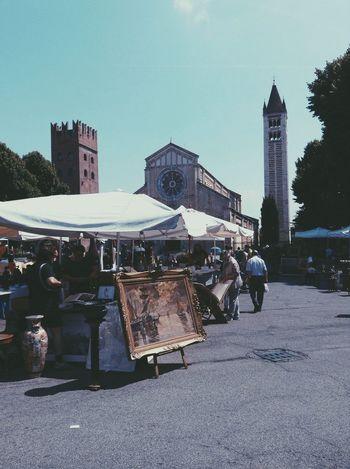 Antique market in Verona Antique Shopping Market Verona Italy