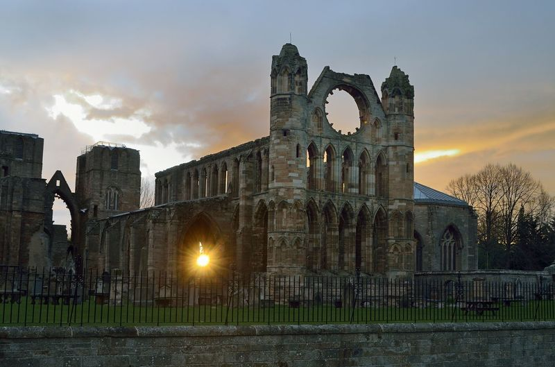 Abbey Ancient Ancient Civilization Arch Architecture Building Building Exterior Built Structure Cloud - Sky Elgin Cathedral History Illuminated Nature No People Old Old Ruin Outdoors Ruined Sky Sunset The Past Tourism Travel Travel Destinations