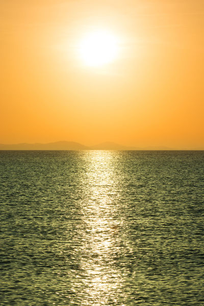 Sunset summer contrast Beauty In Nature Bright Contrasting Colors Dramatic Sky Gold Colored Heat - Temperature Horizon Horizon Over Water Idyllic Nature Outdoors Reflection Scenics Sea Shiny Sky Sun Sunbeam Sunlight Sunset Tranquil Scene Tranquility Tropical Climate Vibrant Color Water