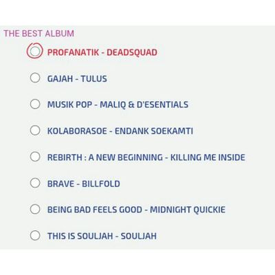 Vote PROFANATIK - DEADSQUAD dinominasi The Best Album PollingMusikHai 2014 Vote