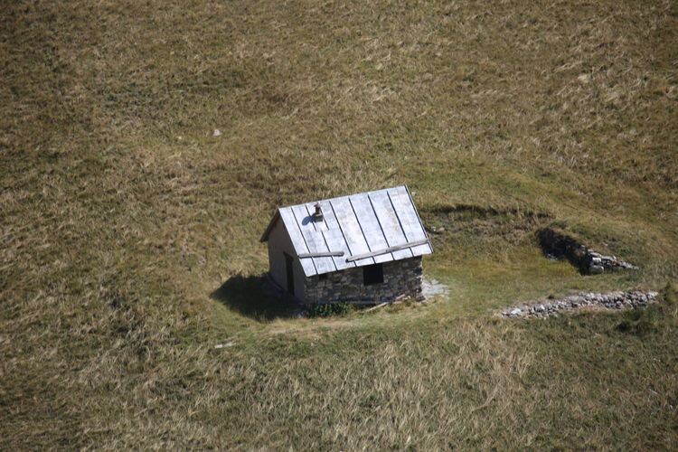 High Angle View Of Built Structure On Landscape