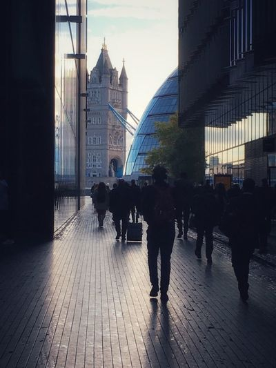 Into the Light .... LONDON❤ Tower Bridge  City Hall Architecture Silhouette_collection Silhouette Architecture EyeEm Selects EyeEm Best Shots Light
