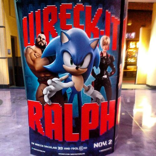 Sonic is in this. I can't wait for this movie Wreckitralph