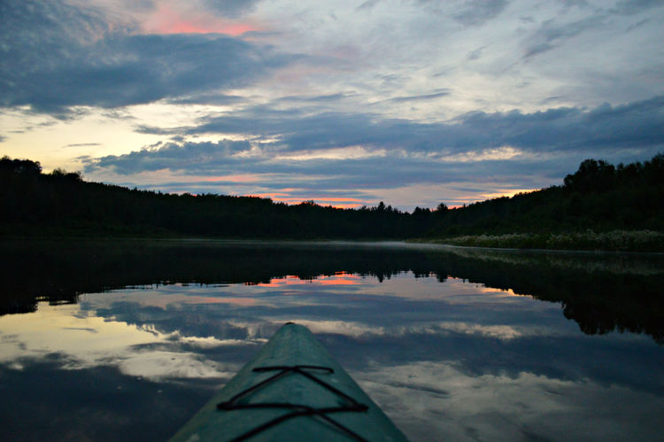 My happy place. Alberta Calm Chickakoo Lake Cloud Couds And Sky Fishing Kayak Kayaking Lake Landscape Mirror Nature Outdoors Reflection Reflection Relaxing Sky Sunset Tranquil Scene Tranquility Water Waterscape Wilderness