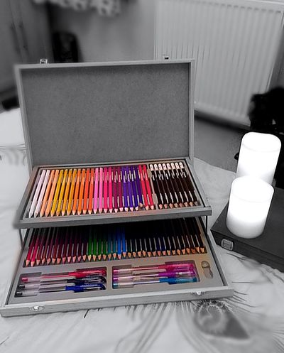 Getting Ready For Art Art Box Art Pencils Coloured Pencils Colours Art Therapy
