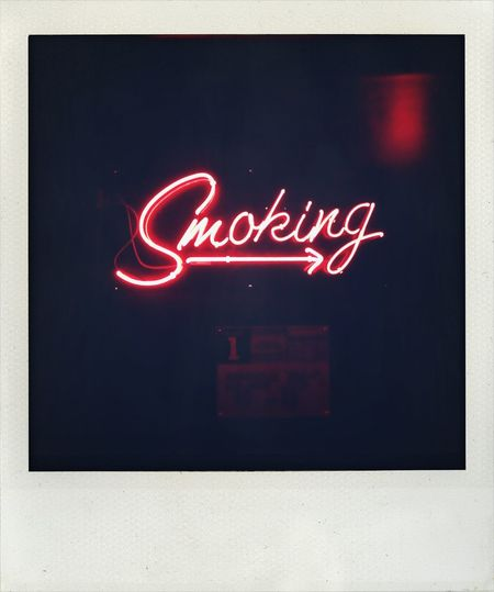Poloroid Club Smoking Sunset Blvd
