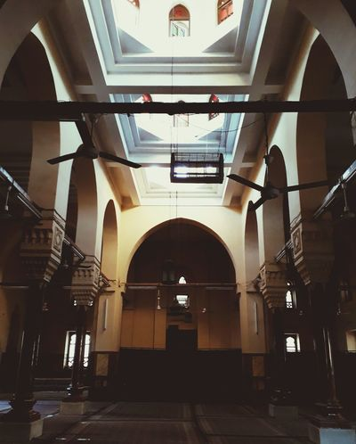 Mobilephotography just a mosque Architecture Indoors  Architectural Column Built Structure History Arch No People Day Religion Spirituality Uper Egypt Architecture Indoors  Relaxation Door Window Entrance