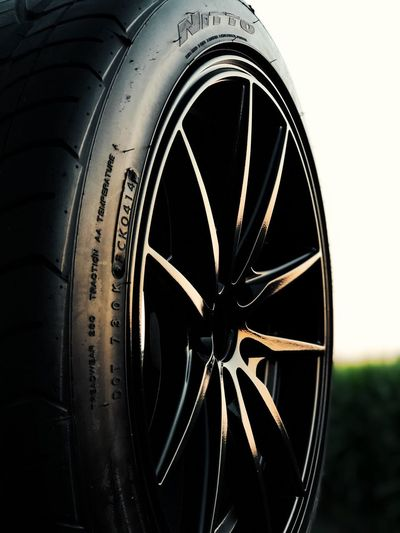 Wheel Tire NITTO Performance Tires König Close-up Portrait Mode Evening 🌅 Sunset Plasti-dip Dipyourcar Gloss No People Outdoors Summer Reflection Transportation We So Out Here