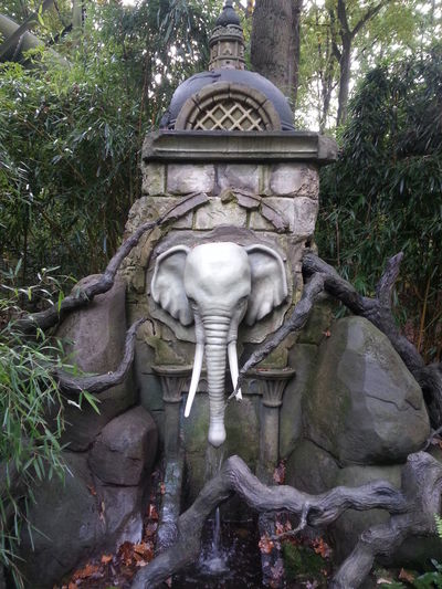 Amusementpark Efteling ,the Netherlands Elephant Fountain Indian Thailand Well