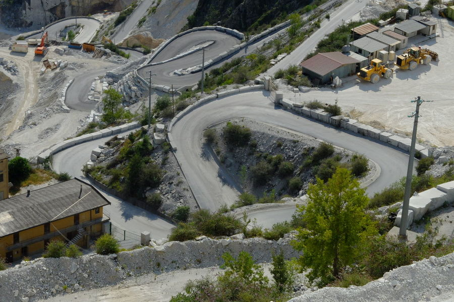 Panorama dalle cave di marmo di Fantiscritti Aerial View Architecture Building Exterior Built Structure Day High Angle View Nature No People Outdoors Road Traffic Circle Tree