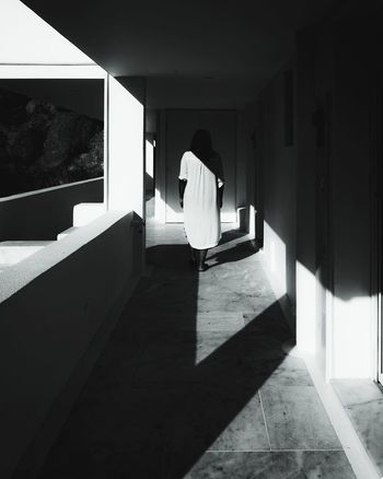 grudge Art EyeEm Horror Blackandwhite Shadows & Lights Shadow Bride Sunlight Standing Architecture Built Structure