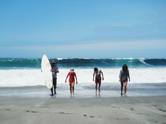 Relaxing Enjoying Life Pacific Ocean Iquique Chile